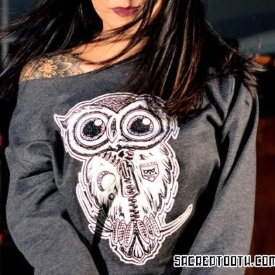 Owl Female Model Top Art By Anexitilon For The Sacred Tooth Brand