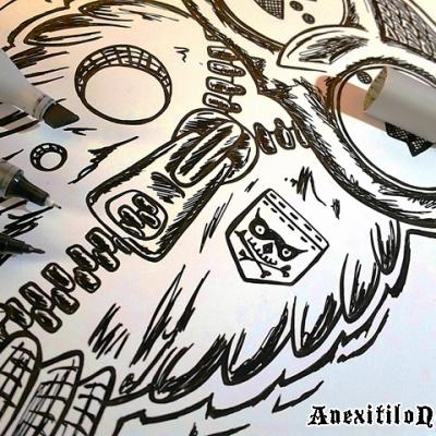 Owl Inking Process Art By Anexitilon For The Sacred Tooth Brand