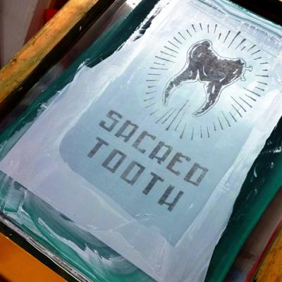 Silk Screen Printing Art By Anexitilon For The Sacred Tooth Brand