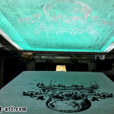 Skull Screen Printing Art By Anexitilon For The Sacred Tooth Brand