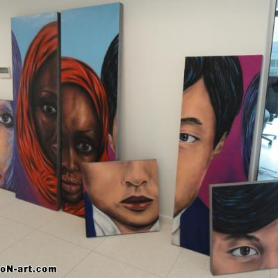 Art Panels Waiting To Display By S. Koureas Www.anexitilon Art.com Hyperrealism Cyprus