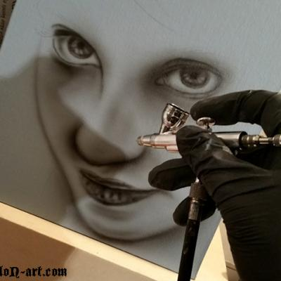 Portrait Airbrushing By Anexitilon
